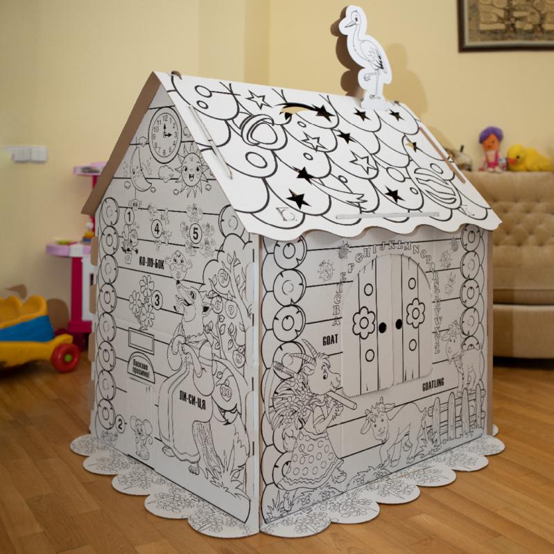 Дитячий картонний будиночок розмальовка Kindom 110х98 см - фото 6