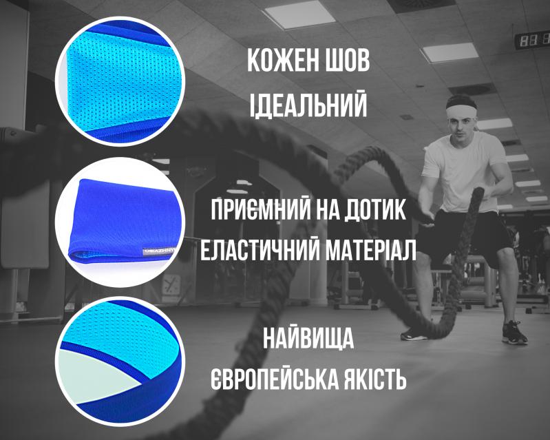 Набор спортивных повязок OSIAZHNYI 2 шт. Оранжевый/Синий - фото 6