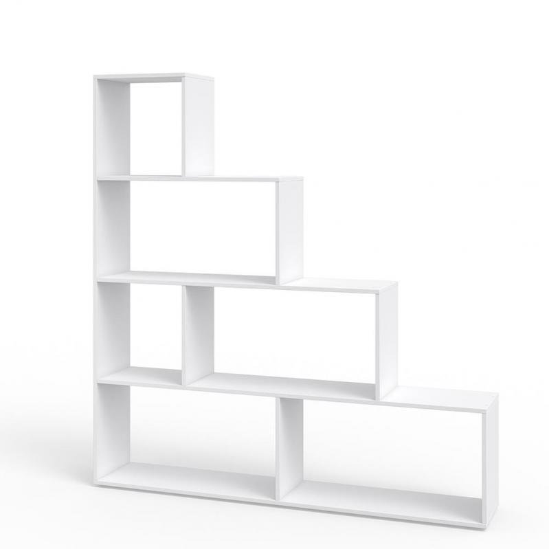 Стелаж трикутний 155x163 Vicco Asym 6 комірок Білий - фото 1
