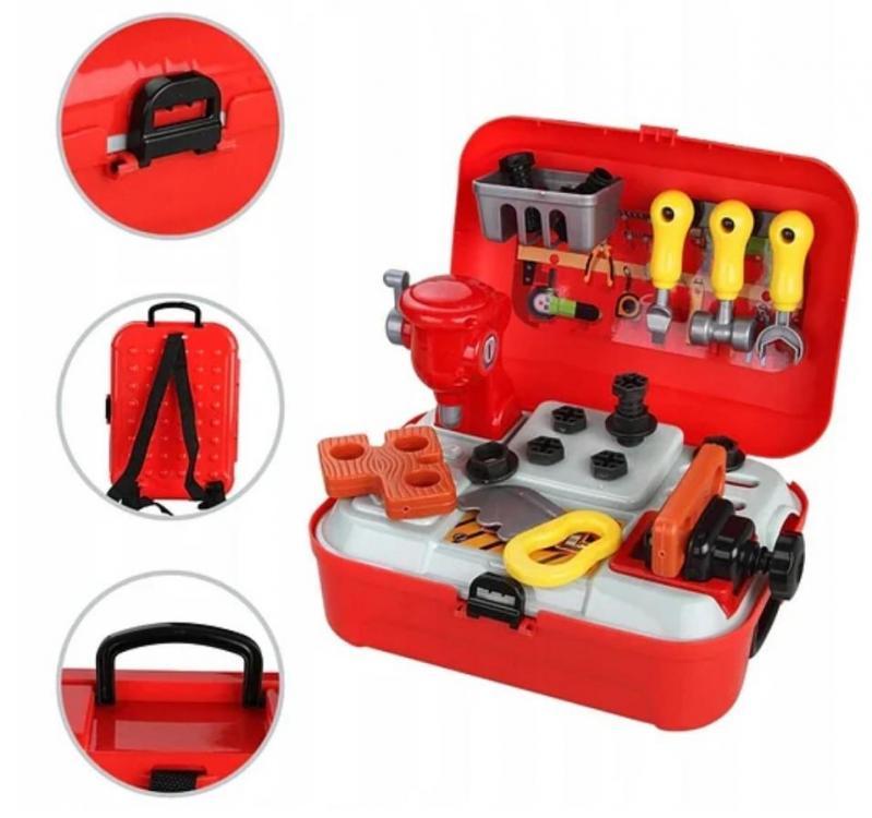Ігровий дитячий набір інструментів Toy Tool Toy на 25 предметів в портативному рюкзаку (V152) - фото 3