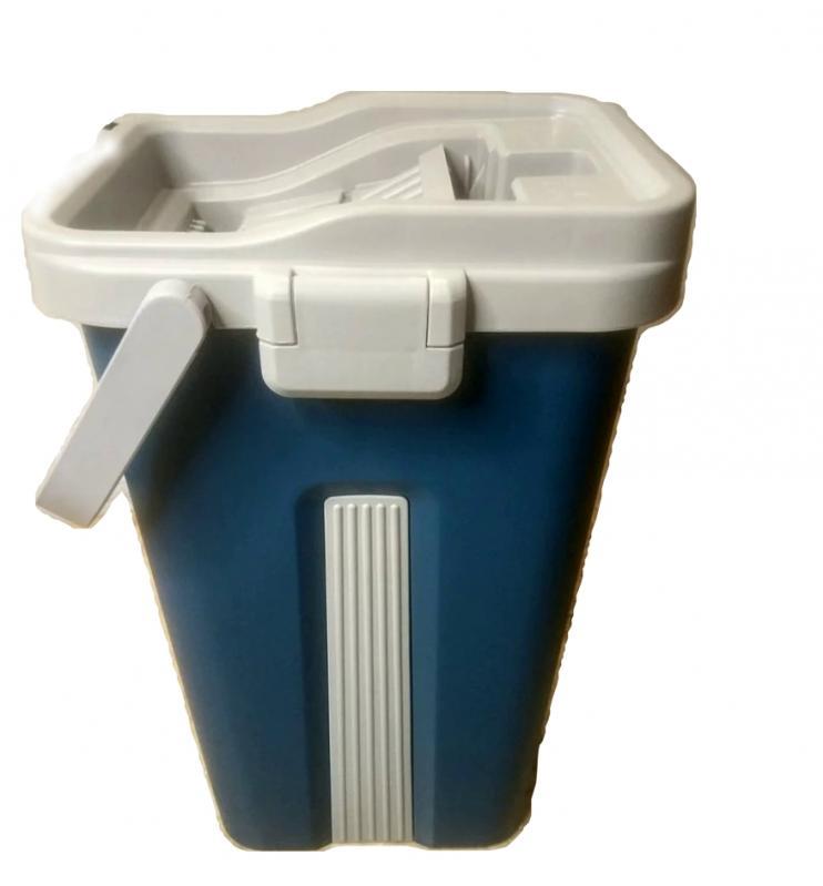 Швабра і відро з автовіджимом Scratch Cleaning Mop Original Синій - фото 2