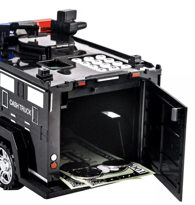 Дитяча машина Cash truck сейф-скарбничка з кодовим замком і відбитком пальця - фото 3