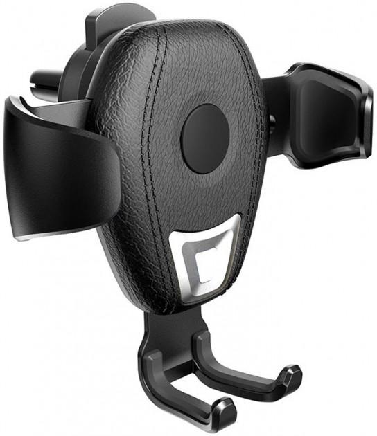 Автомобільний тримач з бездротовою зарядкою QI на дефлектор AWEI CW2 10W Чорний - фото 1
