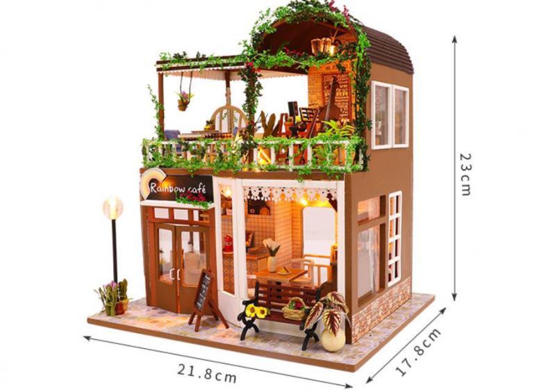 3D Румбокс CuteBee DIY DollHouse Радужне кафе (M92) - фото 7