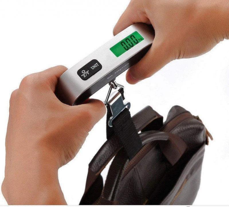 Электронные весы кантер Electronic Luggage Scale для багажа с ремнем - фото 6