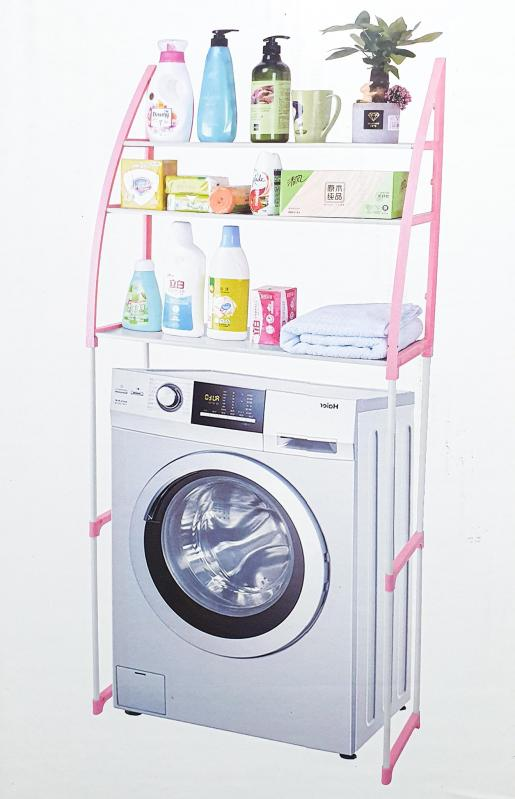 Стелаж підлоговий UKC WM-63 над пральною машиною 68х152 см Білий (9cea9cea) - фото 2