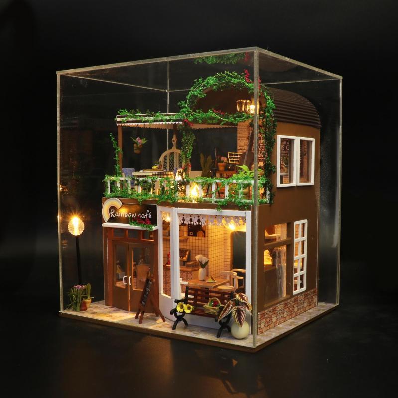 3D Румбокс CuteBee DIY DollHouse Радужне кафе (M92) - фото 6