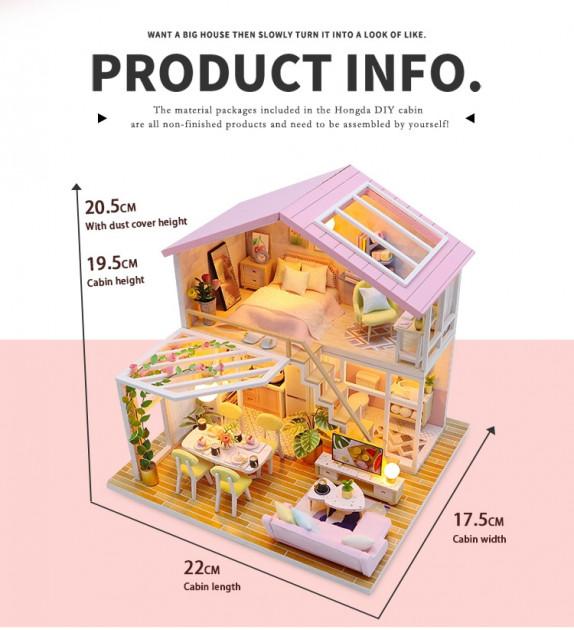 3D Румбокс CuteBee Sweet Time DIY DollHouse (M2001) - фото 2