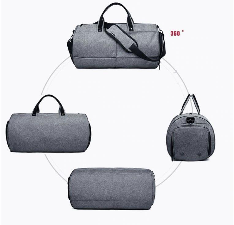 Спортивна сумка TuGuan 1698 з відділом для взуття Сірий - фото 9