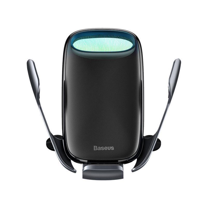 Автомобільний тримач Baseus Milky Way Electric Bracket Wireless Charger 15W Black - фото 3