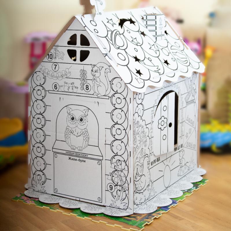 Дитячий картонний будиночок розмальовка Kindom 110х98 см - фото 4