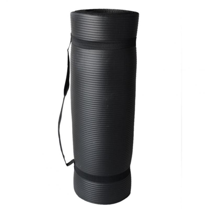 Килимок для йоги EasyFit NBR High-Density 10 мм Чорний (EF-NK10BK) - фото 2
